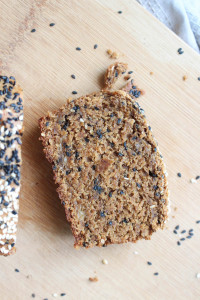 Black Sesame Tahini Vegan Banana Bread-11