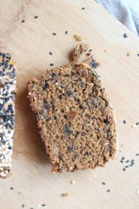 Black Sesame Tahini Vegan Banana Bread-11