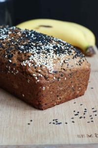 Black Sesame Tahini Vegan Banana Bread-7
