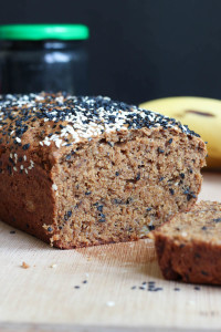 Black Sesame Tahini Vegan Banana Bread-8