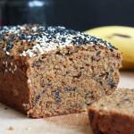 Black Sesame Tahini Vegan Banana Bread