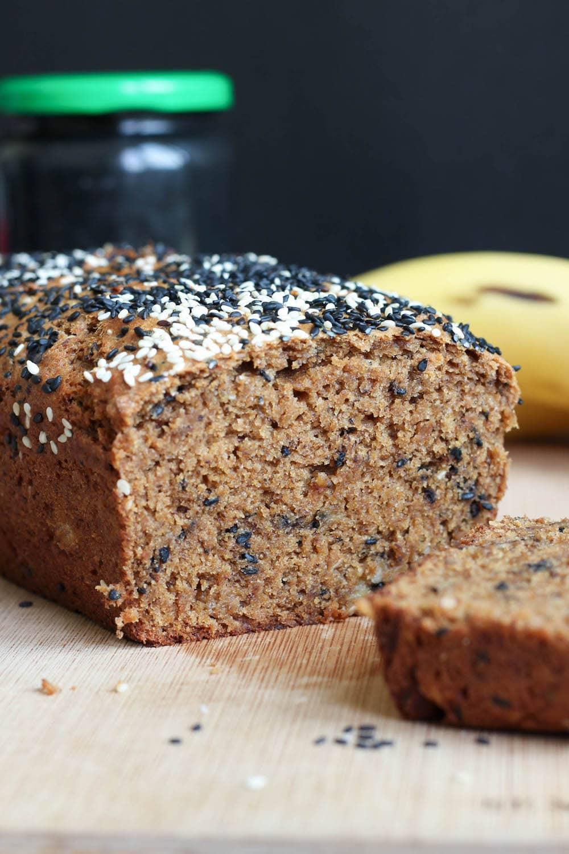 Black Sesame Tahini Vegan Banana Bread The Conscientious