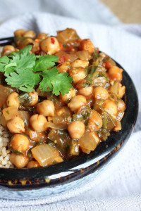 Easy Chickpea Tomato Sauce Curry-2