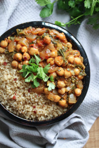 Easy Chickpea Tomato Sauce Curry-4
