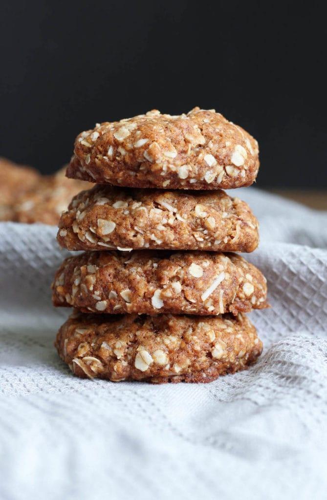 Vegan Coconut Oatmeal Cookies-4