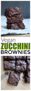 HEALTHY Vegan Zucchini Brownies! Made with whole grains and shredded zucchini, these Vegan Zucchini Brownies are a healthier way to enjoy one of your favorite desserts!