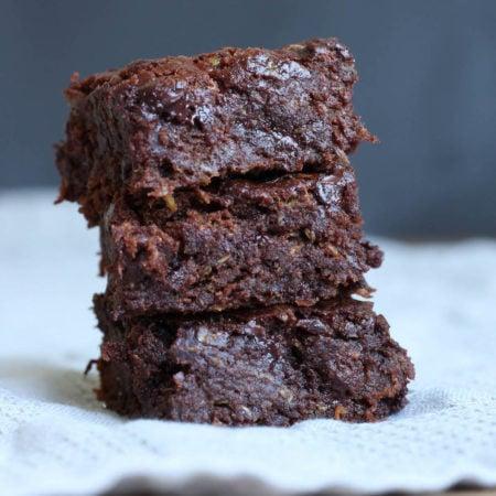 Vegan Zucchini Brownies-6