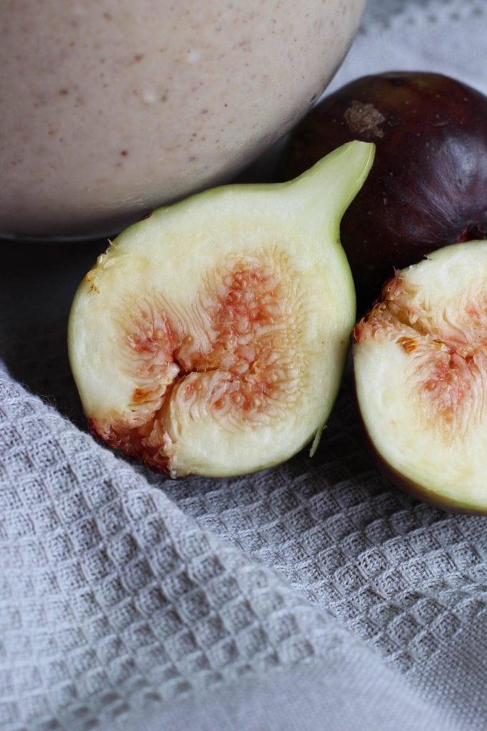 fresh summer figs cut open