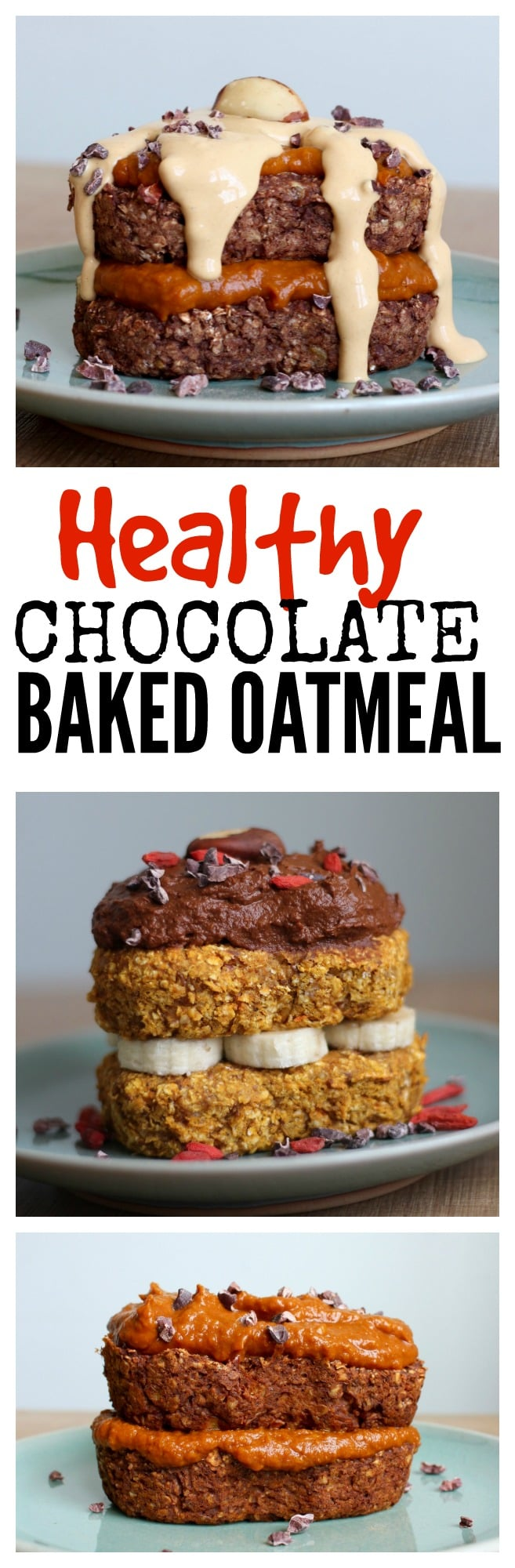 Healthy Chocolate Baked Oatmeal | The Conscientious Eater