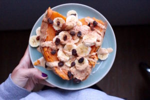 cold-sweet-potatoes-banana-breakfast