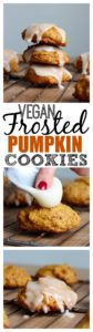 THE BEST Vegan Frosted Pumpkin Cookies! Made with creamy pumpkin puree and warming spices, these Frosted Vegan Pumpkin Cookies are perfect for this holiday season! Vegan!