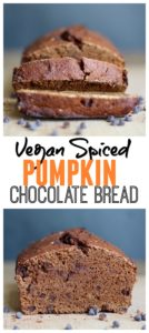 Vegan Spiced Pumpkin Chocolate Bread