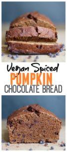 Vegan Spiced Pumpkin Chocolate Bread