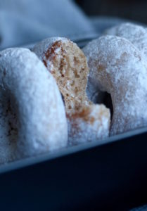 Baked Vegan Powdered Doughnuts 6