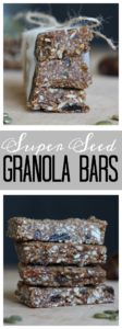 Vegan Super Seed Granola Bars