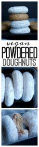 Vegan powdered Doughnuts