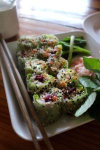 Aum Vegetarian Chiang Mai Thailand Spring Rolls Vegan