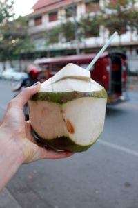 Fresh Young Coconut Water, Chaing Mai Thailand