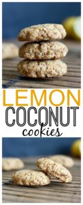 THE EASIEST Vegan Lemon Coconut Cookies! These cookies are loved in our house. They're zesty and chewy and made without any dairy or eggs. YUM!