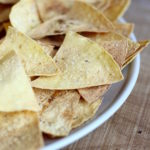 Homemade Oil Free Baked Tortilla Chips