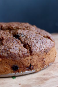 Sliced Vegan Blueberry Coffee Cake