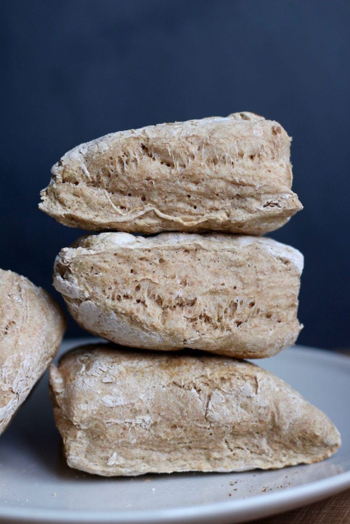 irish soda bread stacked on each other