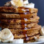 Whole Wheat Vegan Pumpkin Pancakes