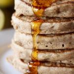 Vegan Whole Wheat Lemon Yogurt Pancakes