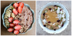 Two kinds of Carrot Cake Oatmeal