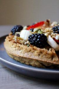 Vegan Whole Grain Waffles close up