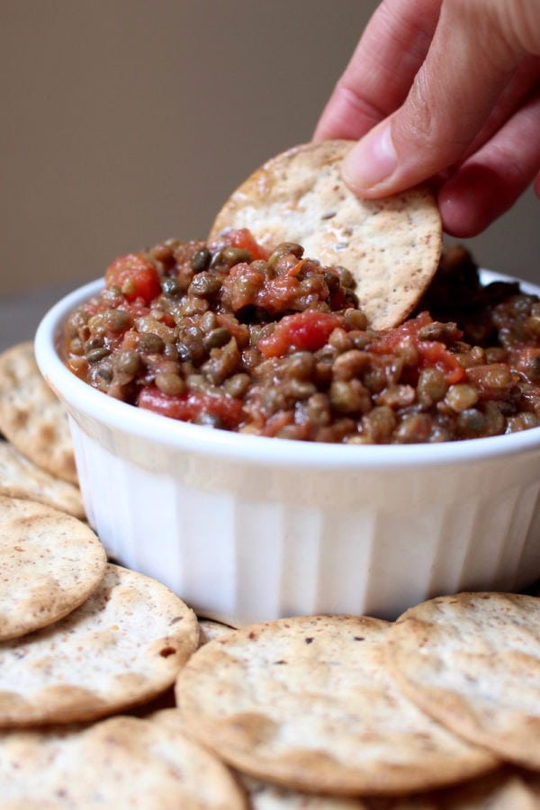 Trader Joe's 2 Ingredient Lentil Bruschetta Dip