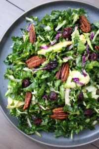Close up of the 4 ingredient Trader Joe's Spicy Peanut Cruciferous Salad