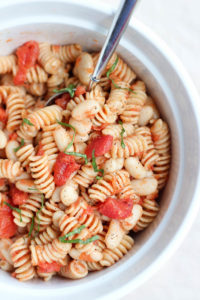 4 Ingredient Italian White Bean Pasta Salad