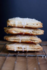 Homemade Vegan Coconut Oil Pop Tarts with icing