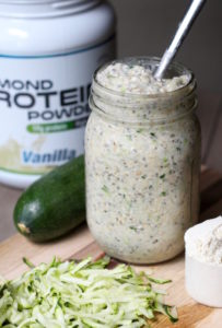 Vanilla Protein Overnight Oats with Zucchini