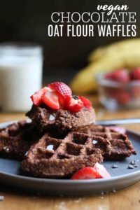 Vegan Chocolate Oat Flour Waffles