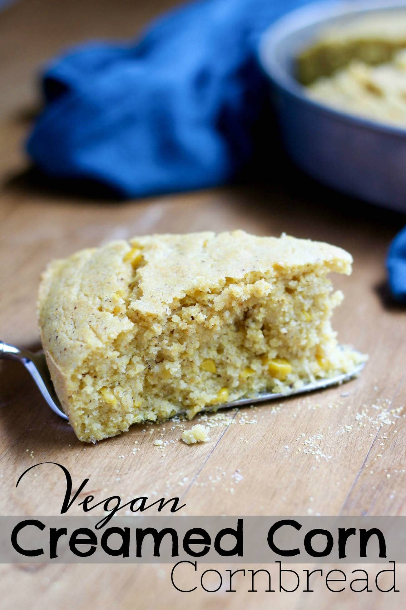 Vegan Creamed Corn Cornbread Recipe