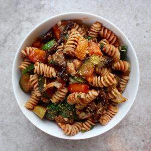 vegan vegetable marinara and nutritional yeast