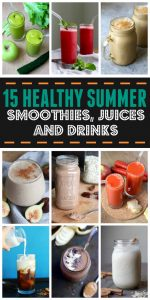 Healthy Summer Smoothies, Juices and Iced Drinks