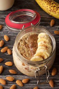 Almond Butter Vegan Overnight Oats