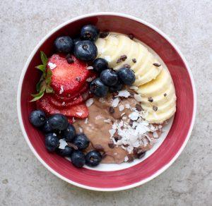 Chocolate banana yogurt pudding