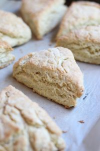 Lemon scone fresh out of the oven