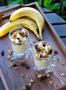 Low Fat Vegan Peanut Butter Overnight Oats