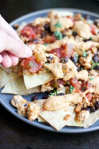 Simple Healthy Nachos Recipe (Oil Free and Vegan