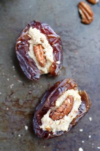 Vegan Cream Cheese Stuffed Dates