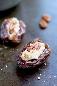 Cream Cheese stuffed dates with pecans