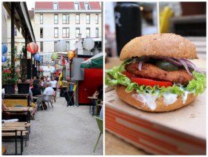 Vegan burger in Budapest, Hungary