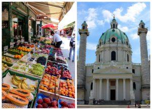 Farmer's market in Vienna, Austria