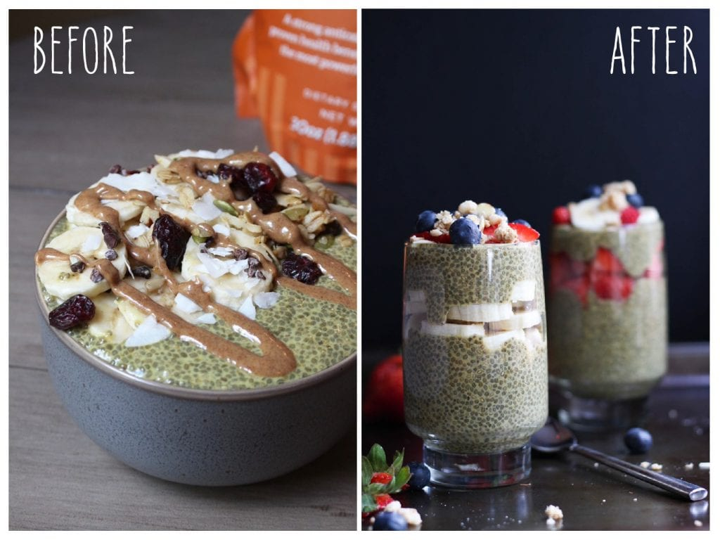 Before and After: Golden Milk Chia Seed Pudding Recipe