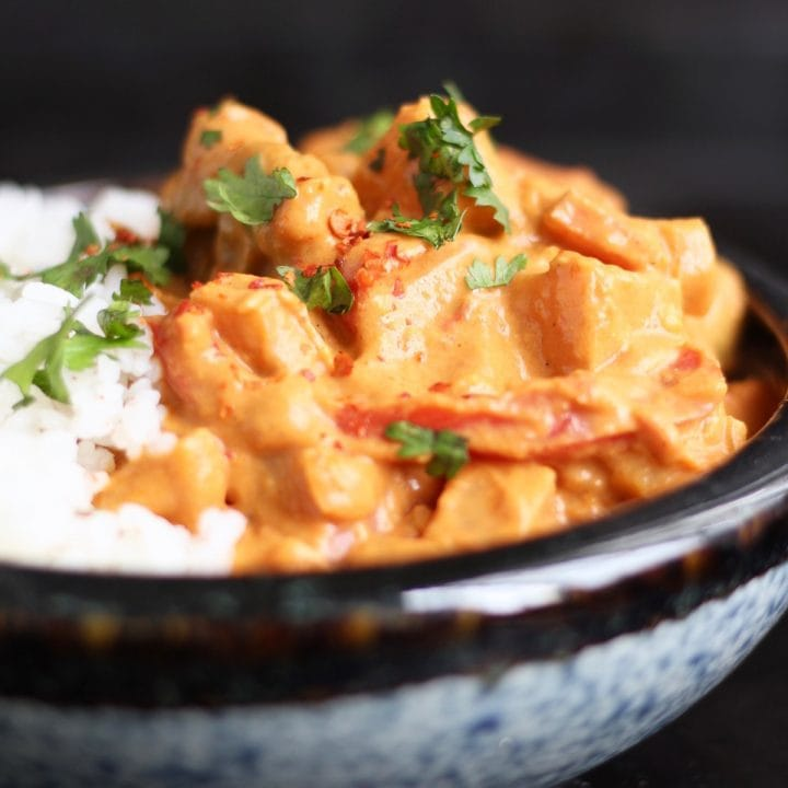 Creamy Peanut Butter Sweet Potato Curry